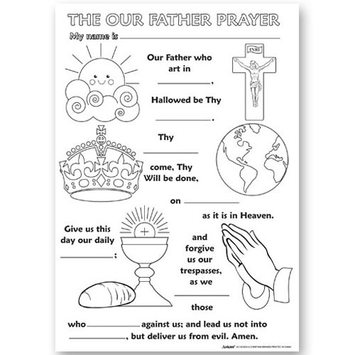 Color Your Own Poster - The Our Father Prayer- 50/pk