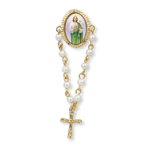 St. Jude Rosary Lapel Pin - 12/PK