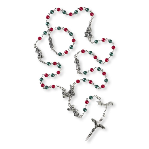Nativity Rosary with Three Kings and Shepherd of Bead