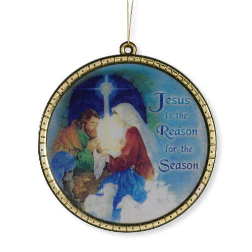 Jesus is the Reason for the Season Round Ornament - 18/pk