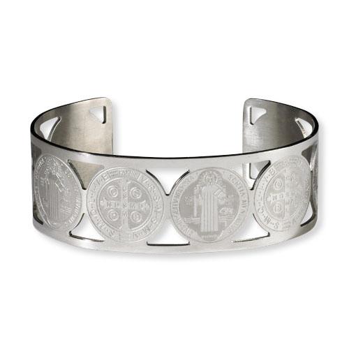 St. Benedict Stainless Steel Bracelet - 4/pk