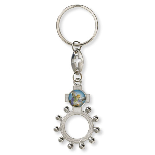 St. Michael Rosary Ring Key Chain - 24/pk