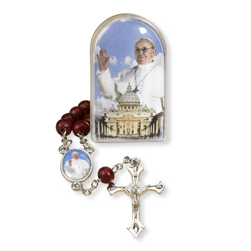 Pope Francis Devotional One Decade Rose Scented Rosary - 12/pk