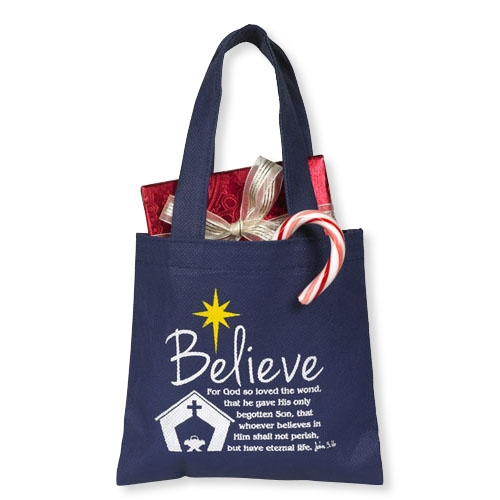 Believe Gift Tote Bag - 24/pk