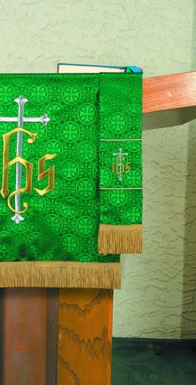 Maltese Jacquard  Custom Bookmark - Green