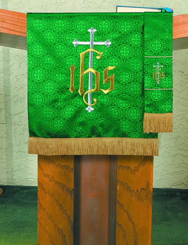 Maltese Jacquard Pulpit Custom Scarf - Green