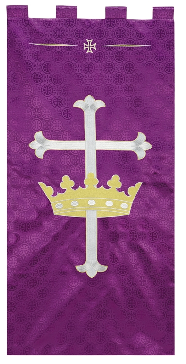Maltese Jacquard Banner - Purple