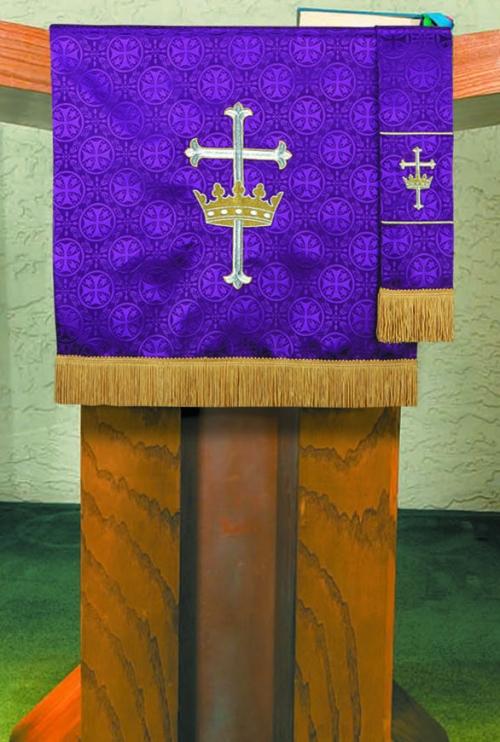 Maltese Jacquard Custom Bookmark - Purple