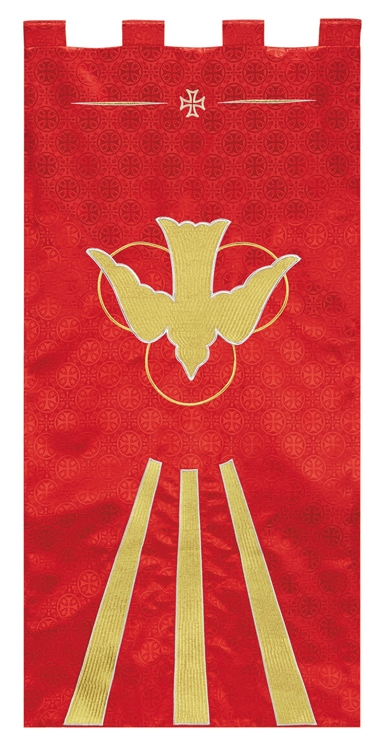Maltese Jacquard Banner - Red