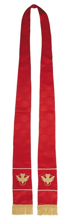 Maltese Cross Jacquard Stole - Red