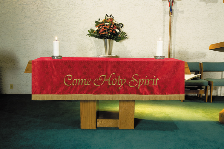 Maltese Jacquard  Custom Altar Frontal - Red