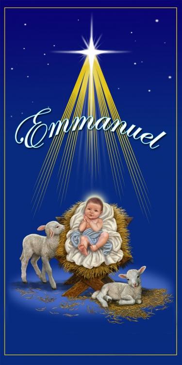Emmanuel Christ Child Banner