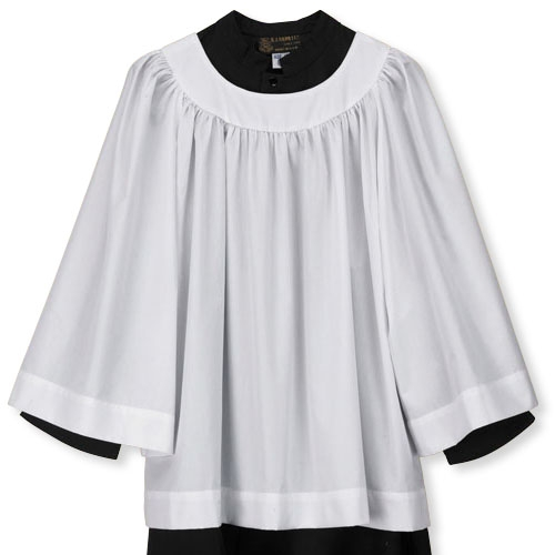 Round Neck Youth Surplice with Long Sleeves