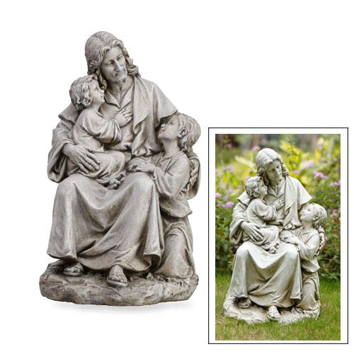 """19"""" Jesus with Children"""