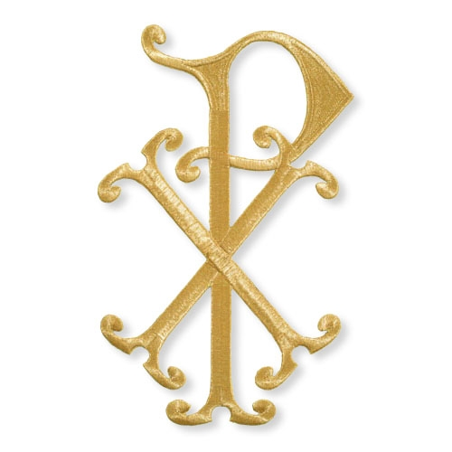 "13"" Chi Rho Embroidered Applique"