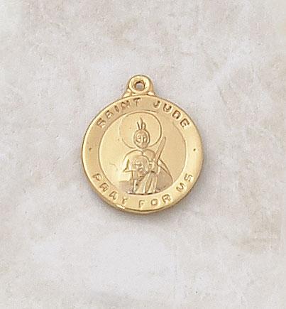 Gold St. Jude Patron Saint Medal