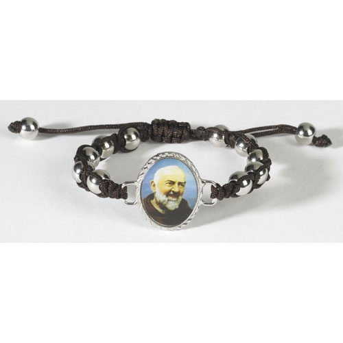 St. Pio Cord Rosary Bracelet