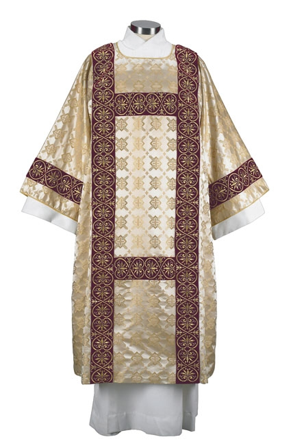 Gold Cross Jacquard Embroidered Dalmatic
