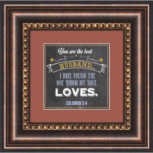 Best Husband Solomon 3:4 Framed Tabletop