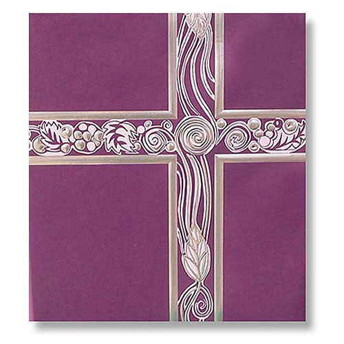 Ceremonial  Royal Purple with Silver Foil Service Binder