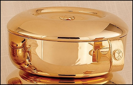 Chi Rho Ciborium with Cover