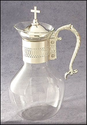 Sterling Silver Glass Flagon Church Supplies