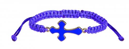 Braided Cross Bracelet Assortment (3 Asst) - 12/pk