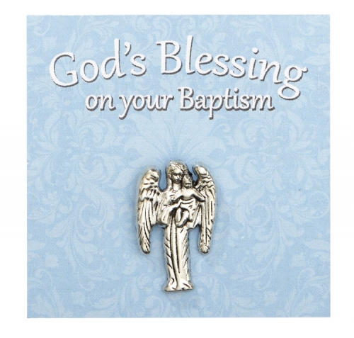 Baptism Angel Pin with Card