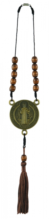 St. Benedict Auto Rosary with Tassel - 12/pk