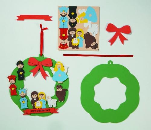 God's Greatest Gift Foam Wreath Craft Kit - 24/pk