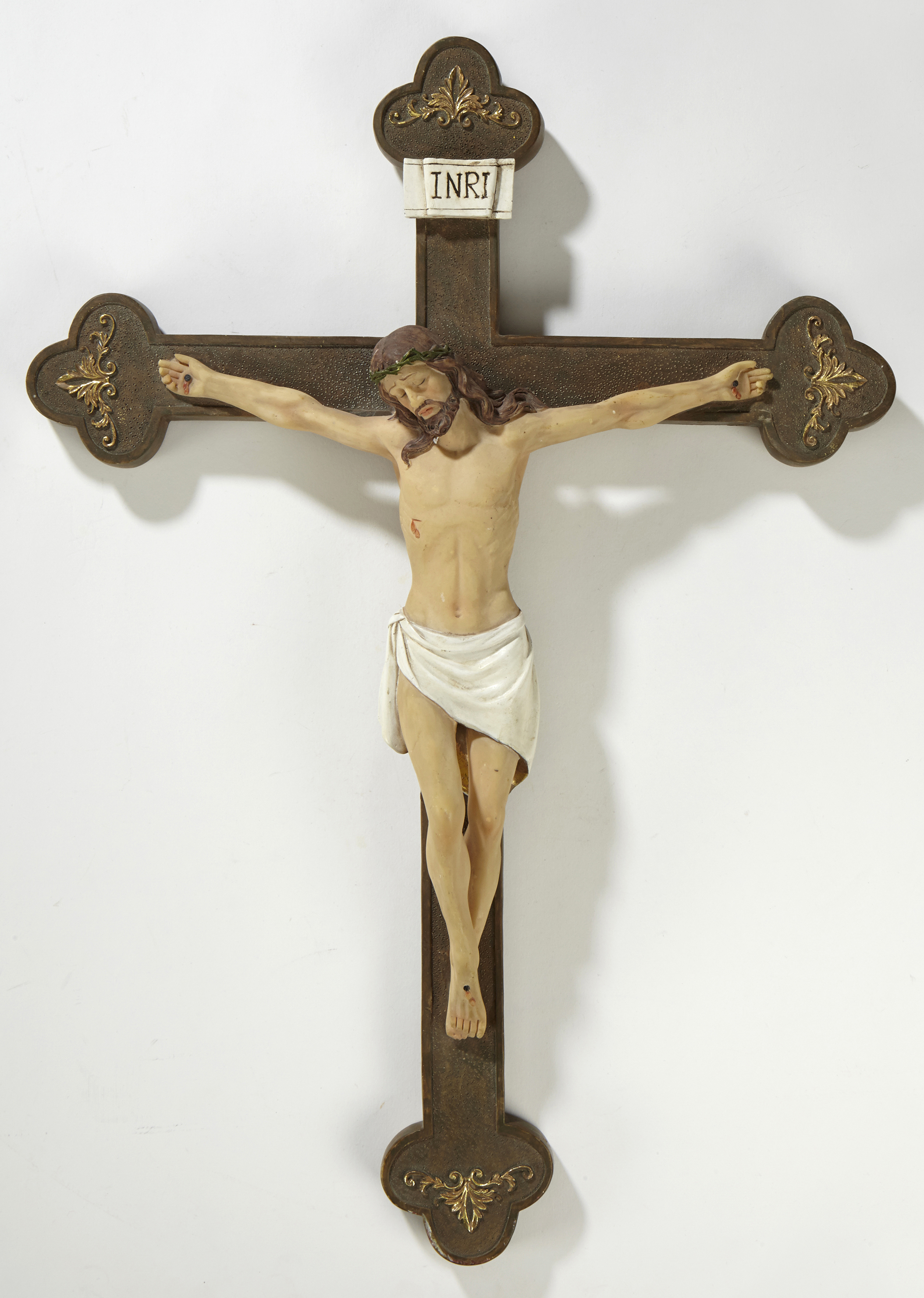 "14 1/2"" Budded Wall Crucifix - 2/pk"