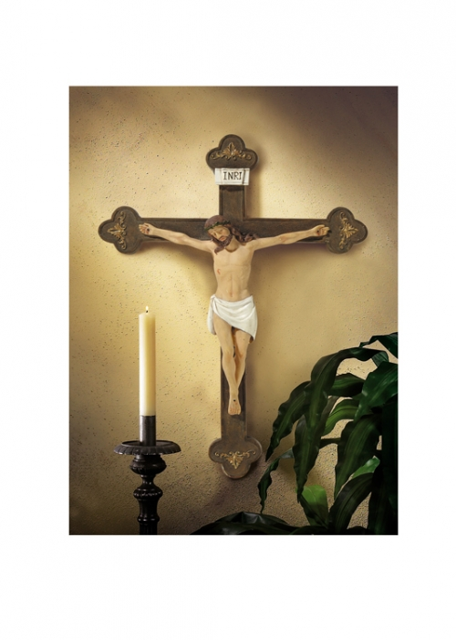 "20"" Budded Wall Crucifix"