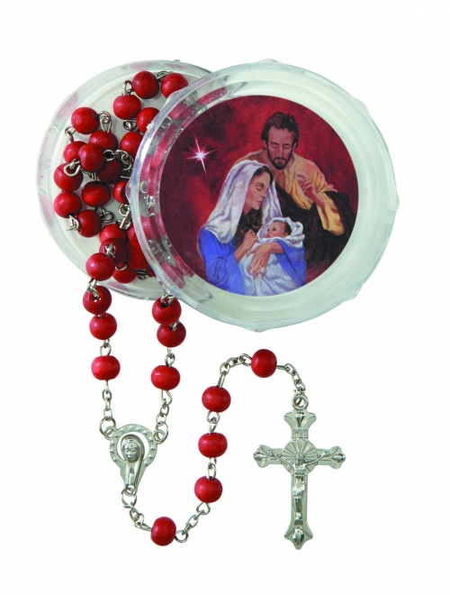 Nativity Christmas Rosary with Two-Piece Case - 12/pk