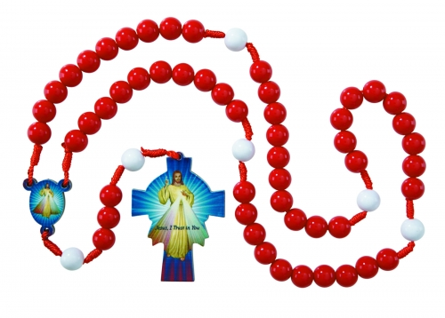 Divine Mercy Wooden Rosary - 6/pk