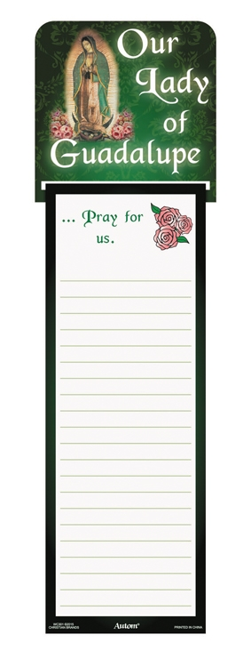 Our Lady of Guadalupe Memo Pad with Magnet - 12/pk
