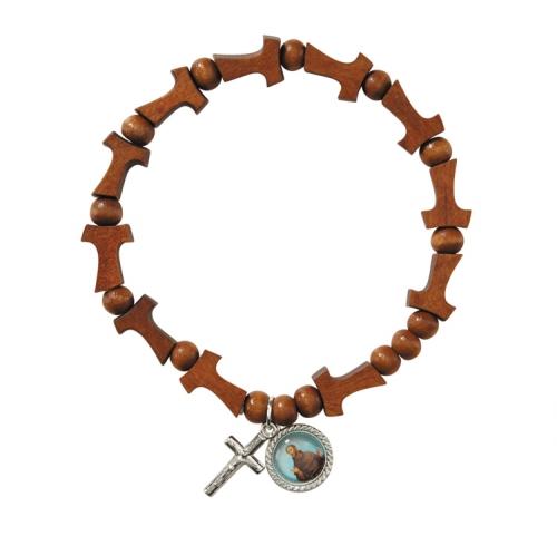 Tau Cross St. Francis Rosary Bracelet - 12/pk