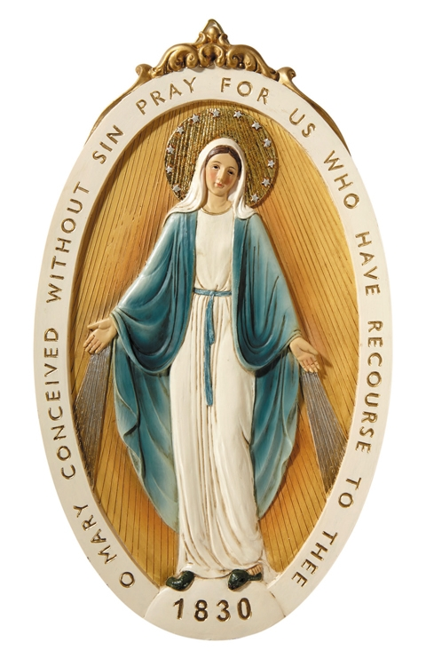 Miraculous Medal Wall Plaque
