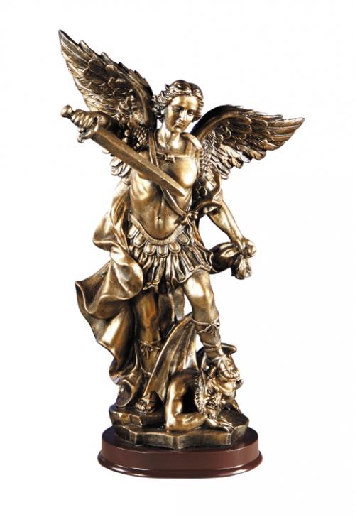 Bronze Finish St. Michael Statue
