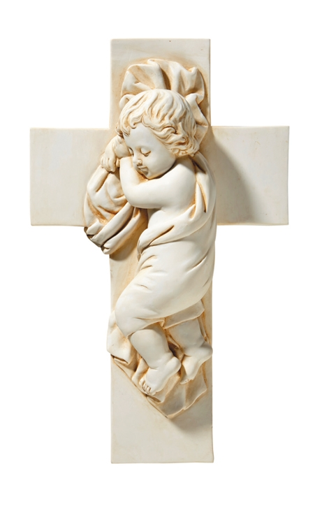 Infant Jesus on Cross Statue