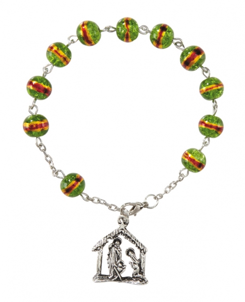 Nativity Rosary Bracelet - 12/pk