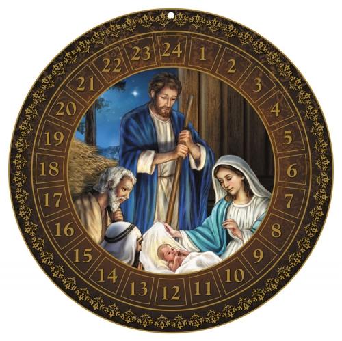 Round Advent Calendar - Holy Family  - 12/pk