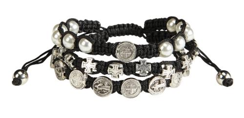 St. Benedict Triple Strand Bracelet - 6/pk