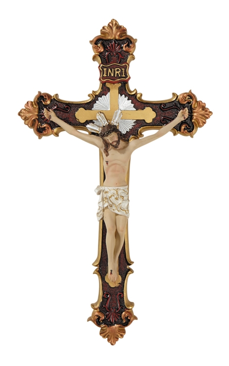 Ornate Wall Crucifix - 2/pk