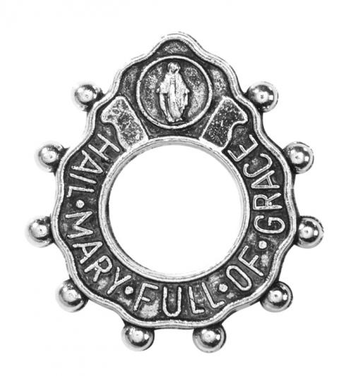Deluxe Hail Mary Rosary Ring - 12/pk