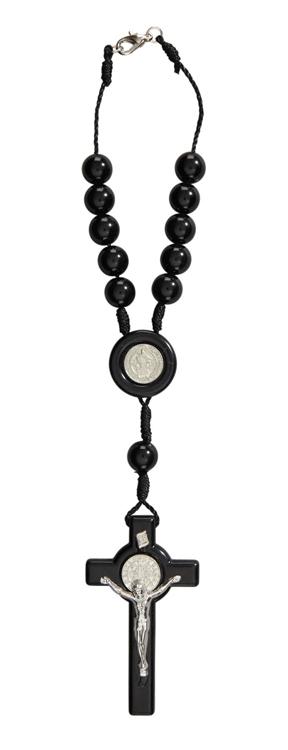St. Benedict Auto Rosary - 12/pk