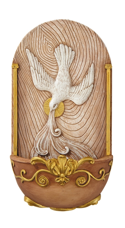 Holy Spirit Holy Water Font - 2/pk
