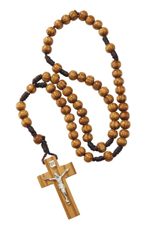 6mm Wood Cord Rosary - 12/pk