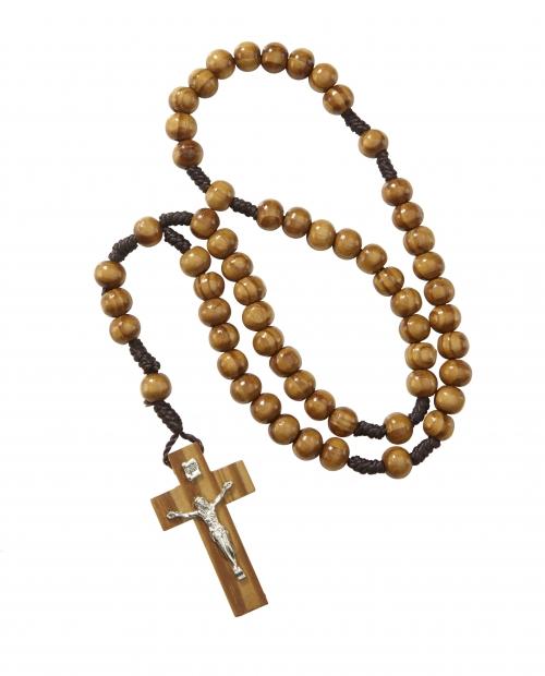 8mm Wood Cord Rosary - 12/PK