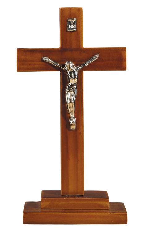 "6"" Standing Wood Crucifix"