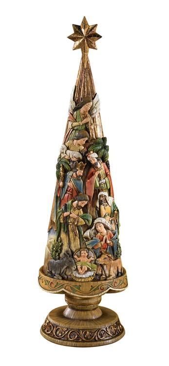 30 nativity christmas tree